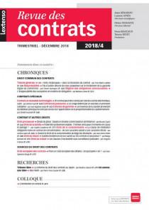 Revue des contrats N°4-2018