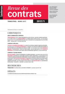 Revue des contrats RDC N°1-2017