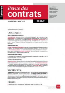 Revue des contrats RDC N°2-2017