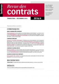 Revue des contrats RDC N°4-2016