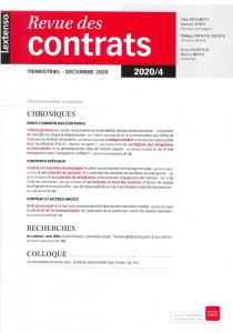 Revue des contrats RDC N°4-2020