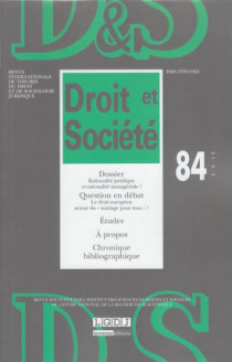 Revue Droit et Société, 2013 N°84