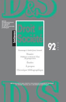 Revue Droit et Société, 2016 N°92