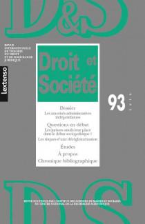 Revue Droit et Société, 2016 N°93
