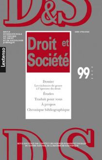 Revue Droit et Société, 2018 N°99