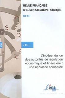 Revue Française d'Administration Publique, 2012 N°143