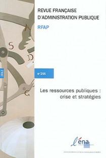 Revue française d'administration publique, 2012 N°144