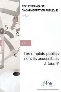 Revue française d'administration publique, 2015 N°153