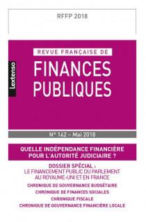Revue Française de Finances Publiques, 2018 N°142