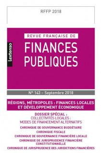 Revue Française de Finances Publiques, 2018 N°143