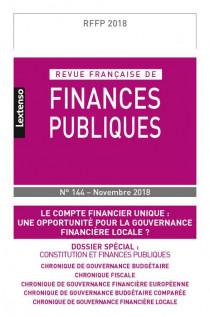 Revue Française de Finances Publiques, 2018 N°144