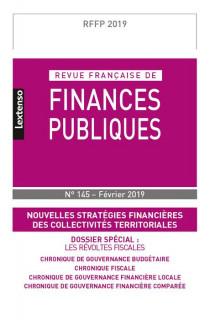 Revue Française de Finances Publiques, 2019 N°145