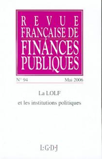 Revue Française de Finances Publiques, mai 2006 N°94