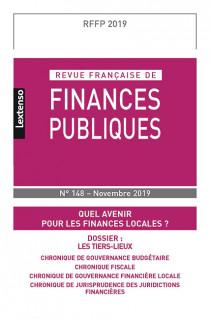 Revue Française de Finances Publiques N°148 - novembre 2019