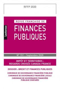 Revue Française de Finances Publiques N°151 - Septembre 2020