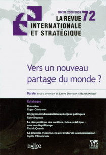 Revue internationale et stratégique, hiver 2008-2009 N°72
