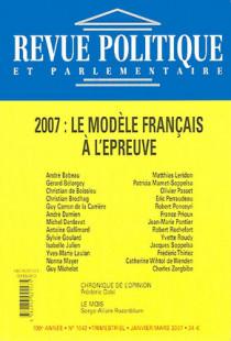 Revue politique et parlementaire, 109e année, janvier-mars 2007 N°1042