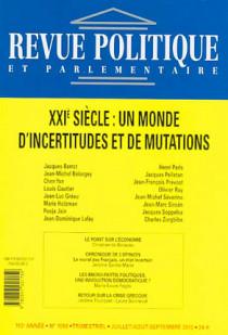 Revue politique et parlementaire, 112e année, juillet-août-septembre 2010 N°1056