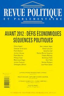 Revue politique et parlementaire, 113e année, avril-mai-juin 2011