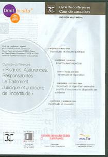 """""""Risques, assurances, responsabilités : le traitement juridique et judiciaire de l'incertitude"""" (coffret 1 DVD-Rom)"""