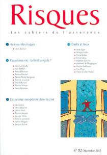 Risques, décembre 2012 N°92