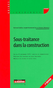 Sous-traitance dans la construction