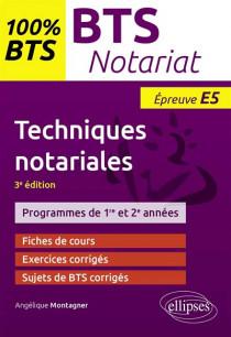 Techniques notariales : épreuve E5