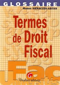 Termes du droit fiscal