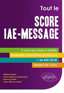 Tout le Score IAE-Message