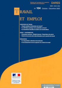 Travail et emploi, octobre-décembre 2005 N°104