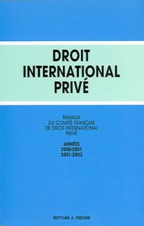 Travaux du Comité Français de Droit International Privé