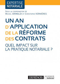 [EBOOK] Un an d'application de la réforme des contrats
