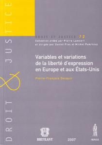 Variables et variations de la liberté d'expression en Europe et aux Etats-Unis