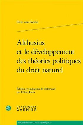 Althusius et le développement des théories politiques du droit naturel