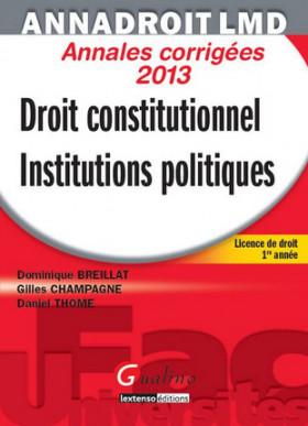AnnaDroit LMD - Droit constitutionnel et institutions politiques 2013