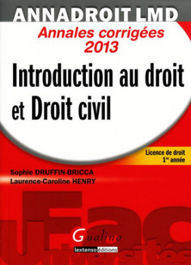 AnnaDroit LMD - Introduction au droit et droit civil 2013
