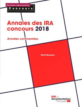 Annales des IRA, concours 2018