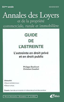 Annales des loyers, 64e année, novembre 2012