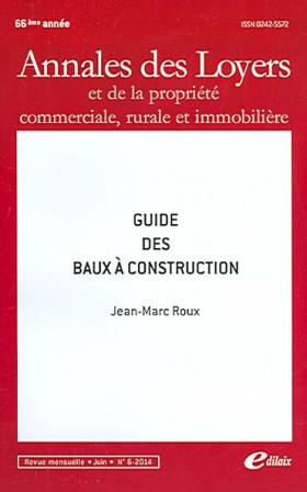 Annales des loyers, 66ème année, juin 2014 N°6