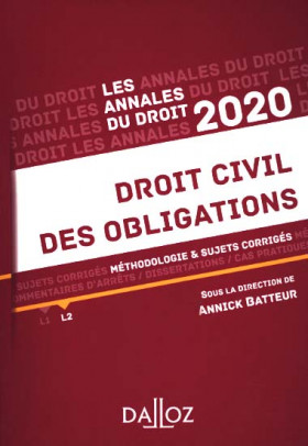 Annales droit civil des obligations 2020