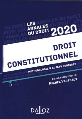 Annales droit constitutionnel 2020