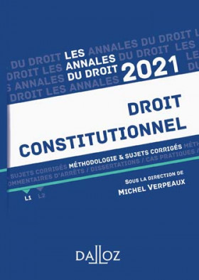 Annales droit constitutionnel 2021