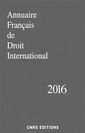 Annuaire français de droit international 2016