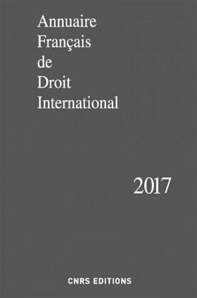 Annuaire français de droit international 2017