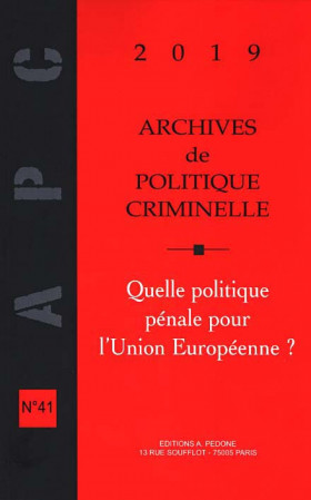 Archives de politique criminelle 2019