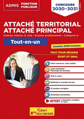 Attaché territorial, attaché principal : concours 2020-2021