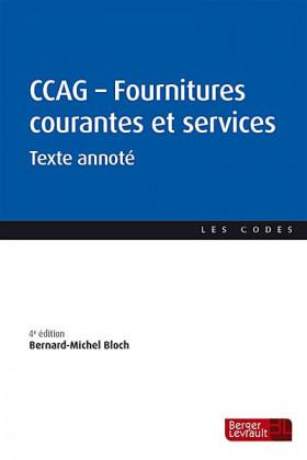 CCAG -  Fournitures courantes et services