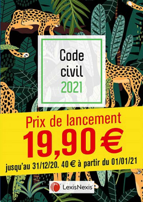 Code civil - Édition 2021 (jaquette amovible Jungle)