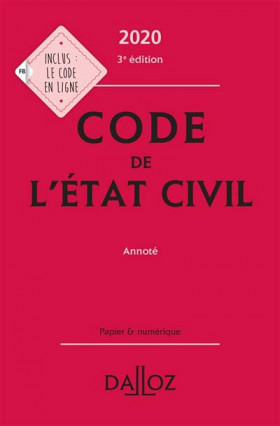 Code de l'état civil 2020