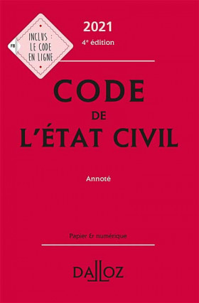 Code de l'état civil 2021